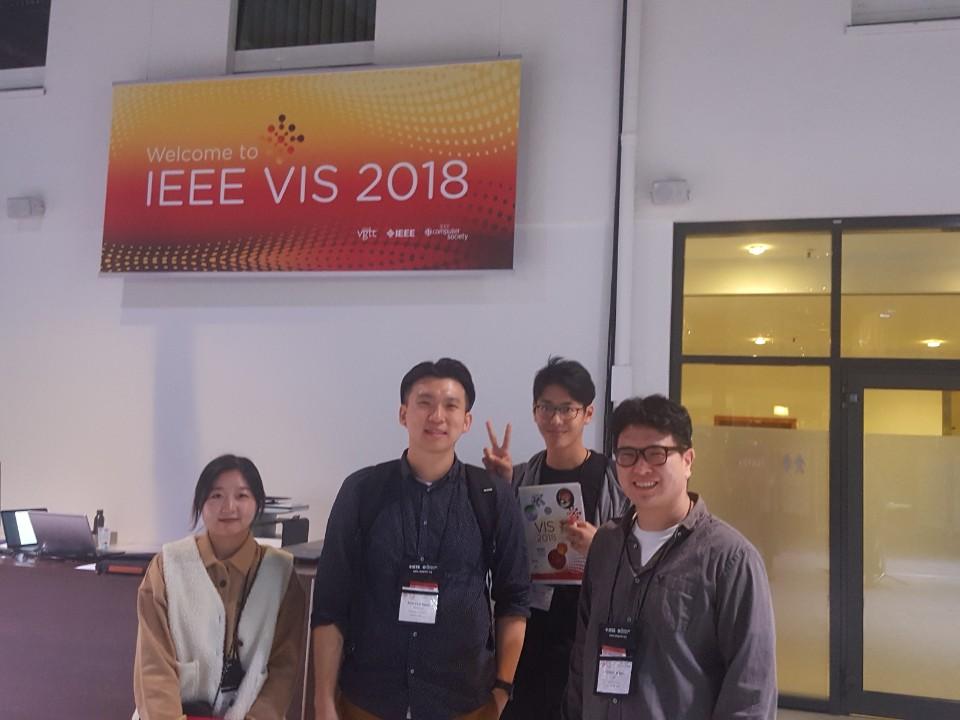 Professor Ko, Hwiyeon and Dongyun attended VIS 2018