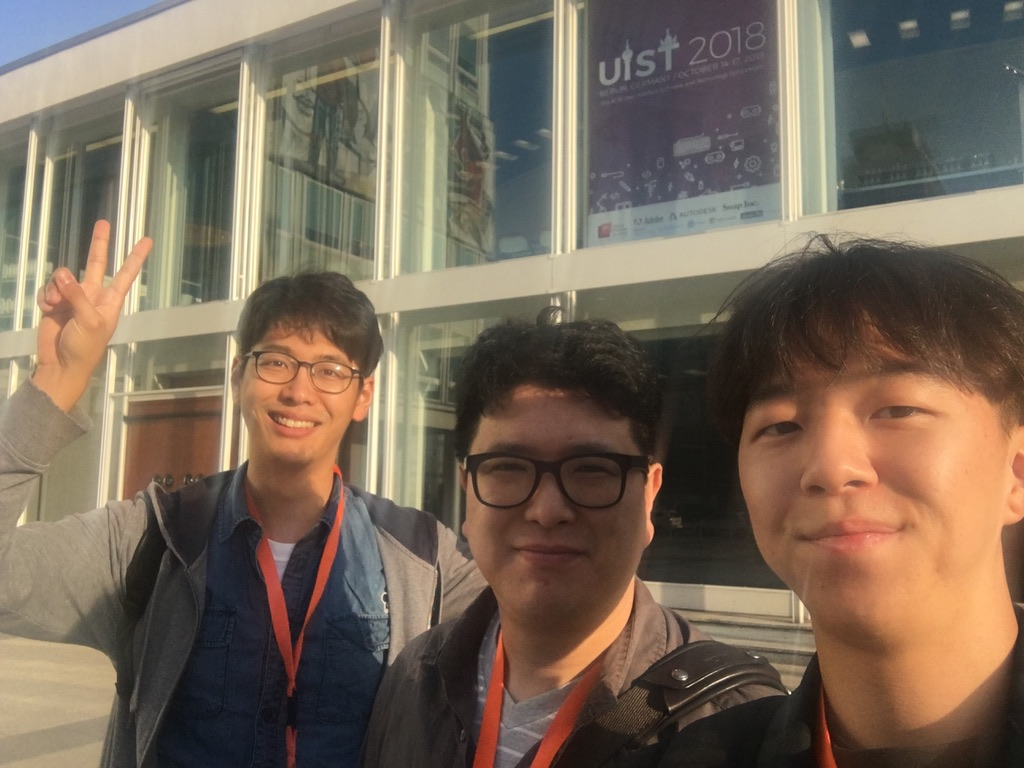 Professor Ko, Dongyun and Hongjun attended UIST 2018