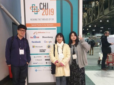Professor Ko, Hwiyeon and Yunha attended CHI 2019