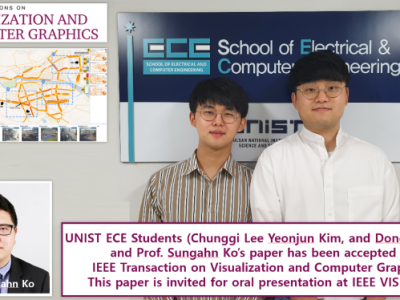 Congratulations! Our paper (1st author: 이충기, MS) is accepted by IEEE TVCG (top-tier journal)