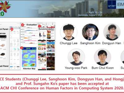 Congratulations! Our paper (1st author: 이충기 Chunggi Lee, 석사과정) is accepted by  ACM CHI (top-tier conference).